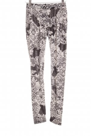 Anna Field Legging zwart-wit abstracte print casual uitstraling