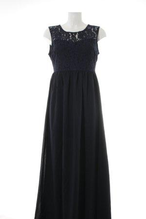 Anna Field Maxi-jurk donkerblauw bloemenprint elegant