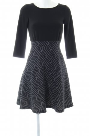 Anna Field Midi Dress black-light grey graphic pattern elegant