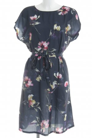 Anna Field Midi-jurk donkerblauw bloemen patroon Beach-look