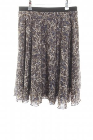 Anna Field Midi-rok blauw-goud abstract patroon casual uitstraling