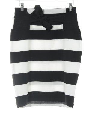 Anna Field Minirock schwarz-weiß Streifenmuster Elegant