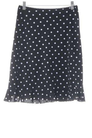 Anna Field Minigonna bianco-nero motivo a pallini stile casual