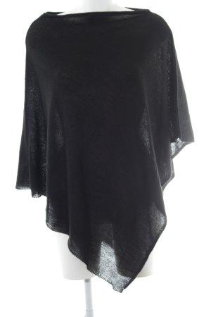 Anna Field Poncho zwart zakelijke stijl