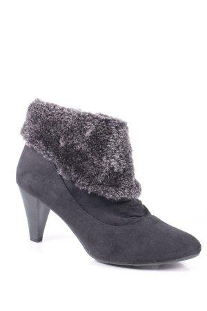Anna Field Zipper Booties black-grey