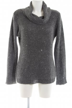 Anna Field Turtleneck Sweater silver-colored-light grey flecked casual look