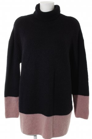 Anna Field Turtleneck Sweater dark blue-pink striped pattern casual look