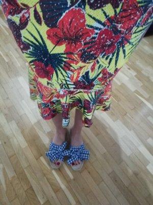 Anna Field Sandale Pantolette Schleife Bow Karo kariert Sandalette 40
