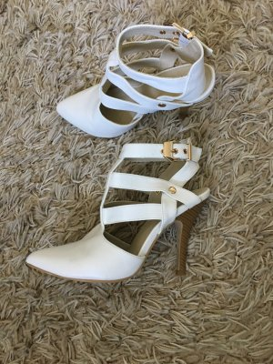 Anna Field Strapped High-Heeled Sandals natural white