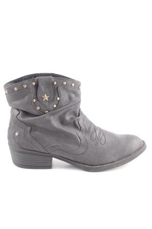 Anna Field Stivaletto slip-on grigio chiaro look vintage