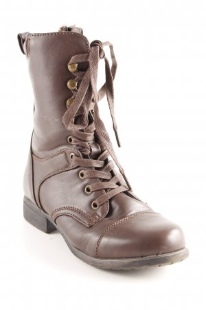 Anna Field Lace-up Booties brown casual look