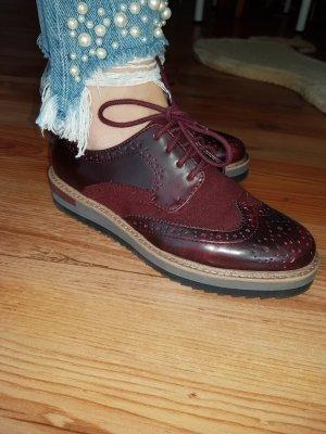 Anna Field Low Shoes bordeaux imitation leather