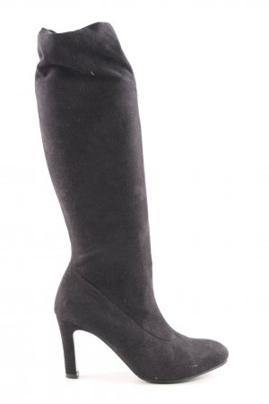 Anna Field Slouch Boots black business style