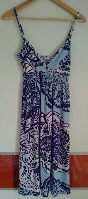 ANNA FIELD Sommerkleid, blau/weiß, Gr. S