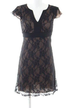 Anna Field Spitzenkleid wollweiß-schwarz Blumenmuster Elegant