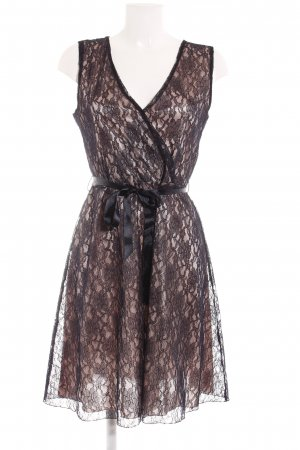 Anna Field Lace Dress dark blue-rose-gold-coloured floral pattern lace look
