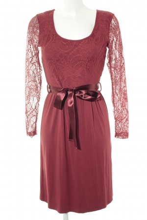 Anna Field Lace Dress dark red embellished pattern romantic style