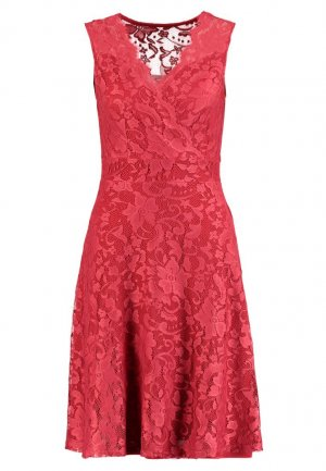 Anna Field Lace Dress red-brick red polyester