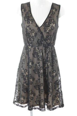 Anna Field Spitzenkleid schwarz-hellbeige Elegant