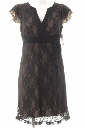 Anna Field Spitzenkleid schwarz-sandbraun Elegant