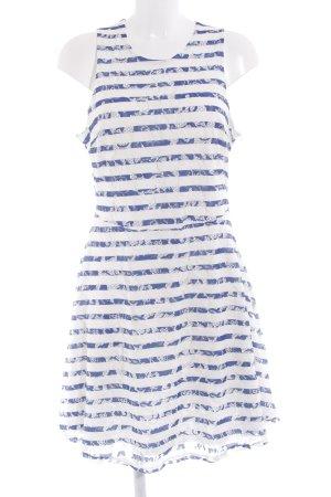 Anna Field Spitzenkleid weiß-blau Streifenmuster Marine-Look