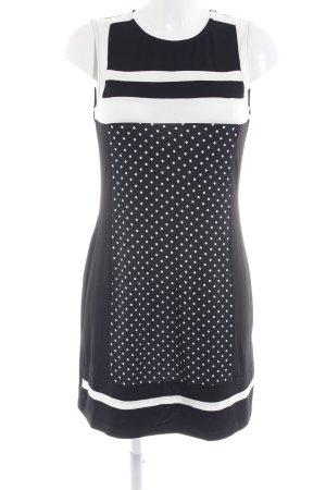 Anna Field Stretch jurk wit-zwart gestippeld patroon zakelijke stijl