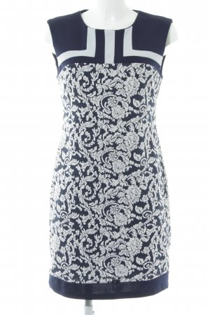 Anna Field Stretchkleid dunkelblau-weiß florales Muster Elegant