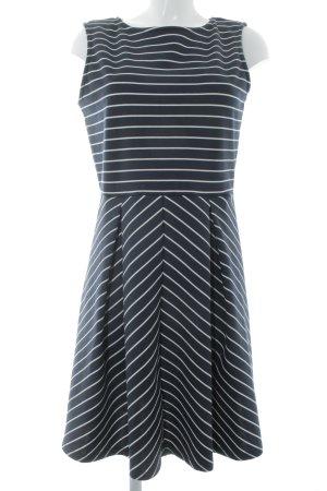 Anna Field Stretchkleid dunkelblau-weiß Streifenmuster Casual-Look