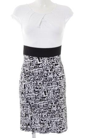 Anna Field Stretchkleid schwarz-weiß grafisches Muster Elegant