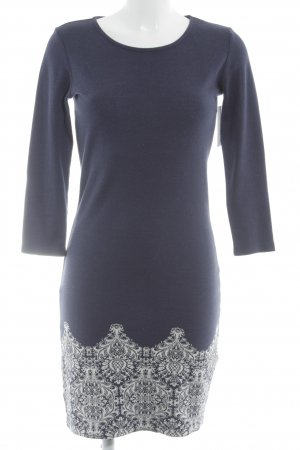 Anna Field Knitted Dress dark blue-white abstract pattern casual look
