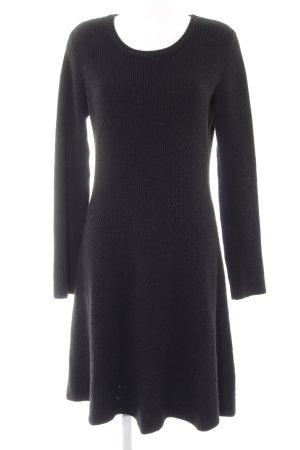 Anna Field Gebreide jurk zwart casual uitstraling