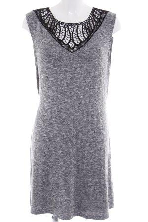Anna Field Strickkleid schwarz-grau meliert Casual-Look