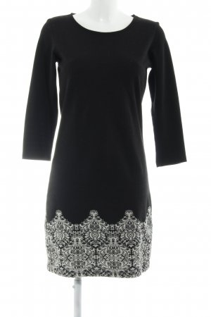 Anna Field Gebreide jurk zwart-wit verfraaid patroon casual uitstraling