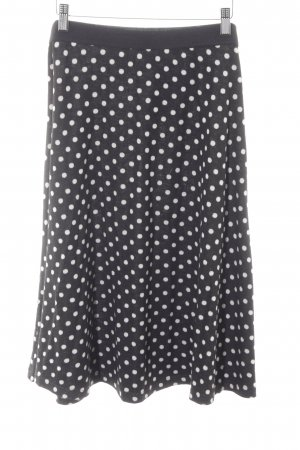 Anna Field Knitted Skirt black-white spot pattern '80s style