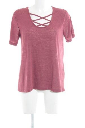 Anna Field Gebreid shirt lichtrood casual uitstraling