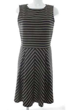 Anna Field Sweatkleid schwarz-goldfarben Streifenmuster
