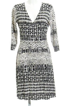 Anna Field Sweat Dress black-natural white allover print beach look