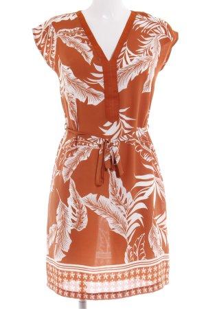 Anna Field Tunikakleid dunkelorange-weiß florales Muster schlichter Stil