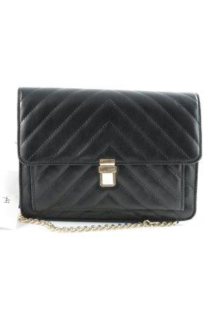 Anna Field Gekruiste tas zwart quilten patroon elegant