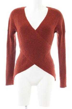 Anna Field V-Ausschnitt-Pullover rot meliert Casual-Look