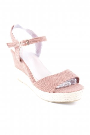 Anna Field Wedges Sandaletten creme-rostrot Casual-Look