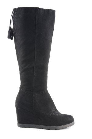 Anna Field Botines de invierno negro elegante