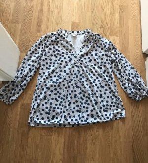 H&M Shirt Tunic cream-dark blue