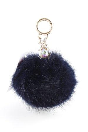 Anna K Porte-clés bleu foncé Application de logo métal