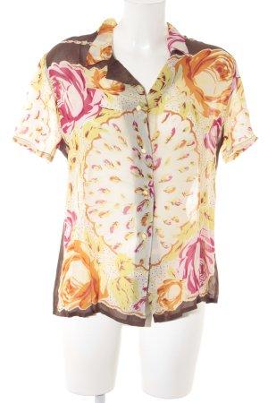Anna Molinari Kurzarm-Bluse florales Muster Street-Fashion-Look