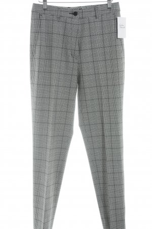 Anna Montana Pleated Trousers black-white check pattern business style