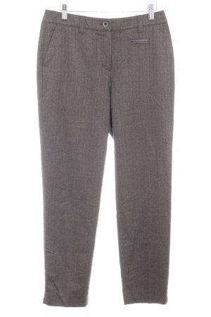 Anna Montana Jersey Pants grey brown herringbone pattern business style