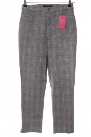 Anna Montana Stretch Trousers light grey-pink check pattern business style