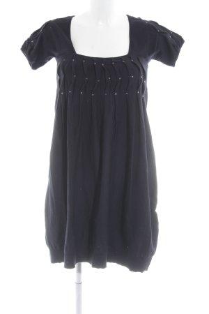 Anna Rita N A Line Dress dark blue business style