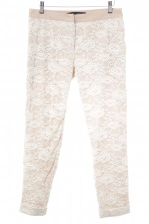 Anna Rita N Karottenhose wollweiß-rosé florales Muster Romantik-Look